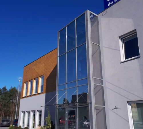 Fasada-aluminiowo-szklana-Rolex-bud.-Inter-Cars-Zielona-Góra