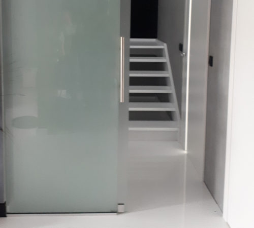 scianka całoszklana przesuwna drzwi przesuwne glass Rolex Zielona Gora